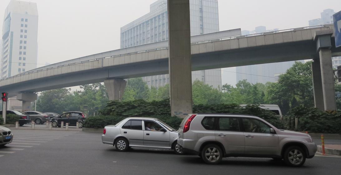 金寨路高架與南一環鋼箱梁匝道工程